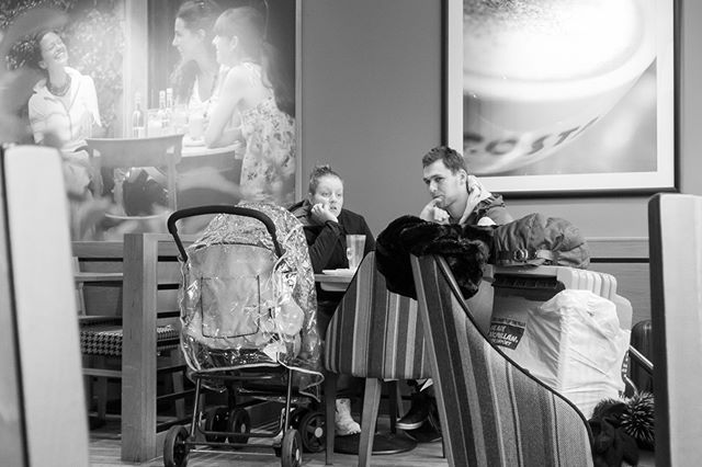 FYI: Cafe Social Life. Lack of conversation? What happens when we have drunk all the coffee?. © Mark Stothard #Cafe #coffee… #cafe