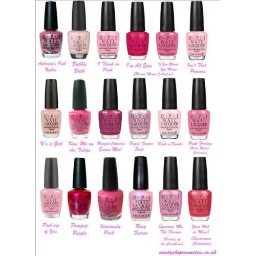 Opi Nail Polish Color Chart: OPI Pink Shades! - OPI Pink Mini Nail Polish Chart