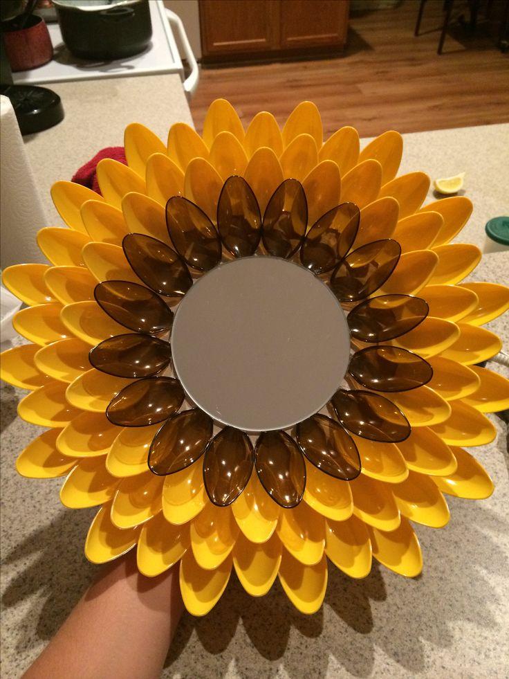 Sunflower Spoon Mirror