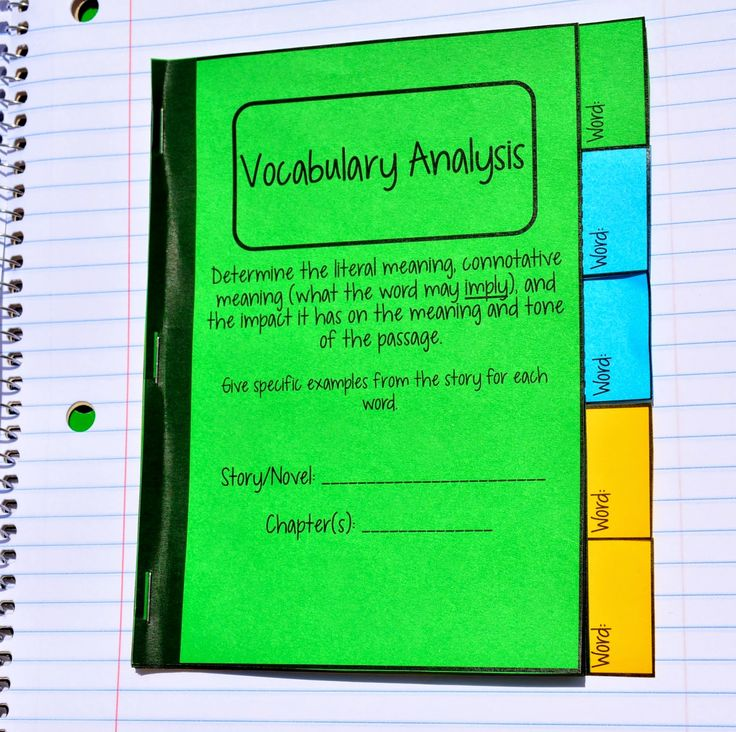 854 best interactive notebooks images on pinterest interactive vocabulary analysis mini tabbed book for interactive notebooks pronofoot35fo Gallery