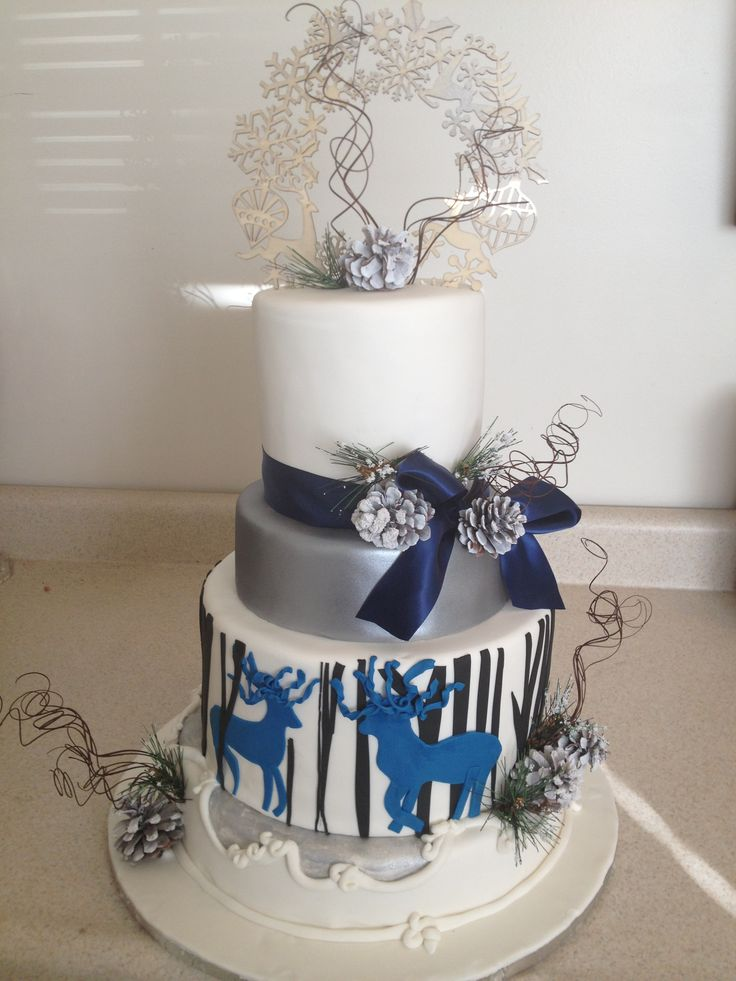 Winter inspired cake Cake made by Delicious