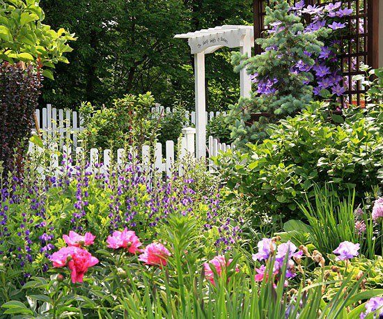 Bauerngarten gestalten - Prächtige Gartenblumen duftende Blüten Omas Garten Pfingstrosen Löwenmaul Herzblumen - Malven