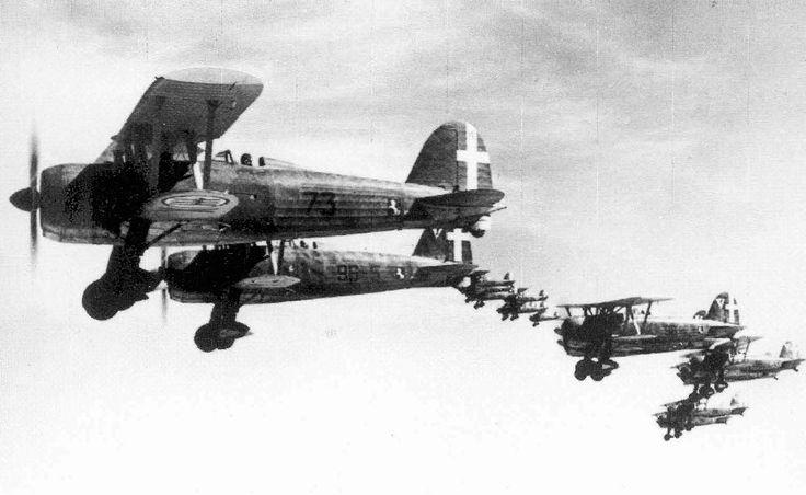 Fiat CR 42 Falco, Cirenaica 1940 - (Regia Aeronautica Italiana)