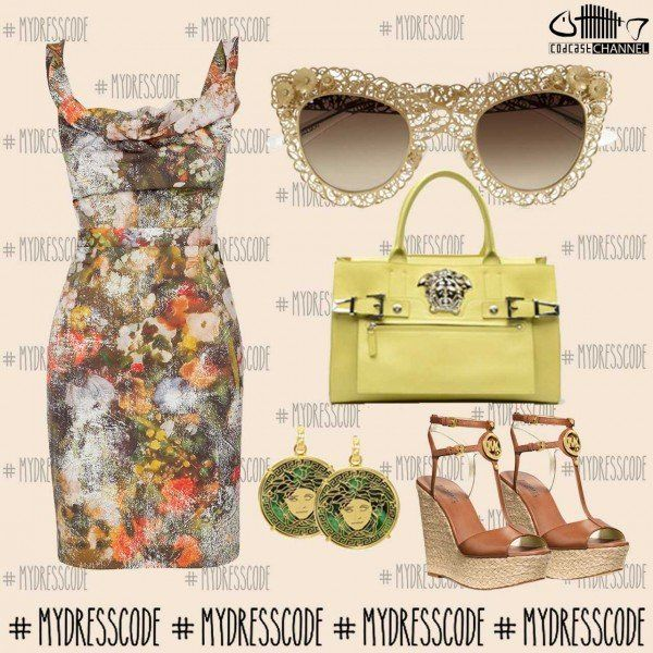 Dress VIVIENNE WESTWOOD - Sunglasses DOLCE&GABBANA - Bag and Ring VERSACE - Shoes MICHAEL KORS #womenswear #newcollections #springsummer2014 #ss14 #outfit #fashion #style #trends #outfitideas #outfitoftheday #michaelkors #versace #dolcegabbana #viviennewestwood