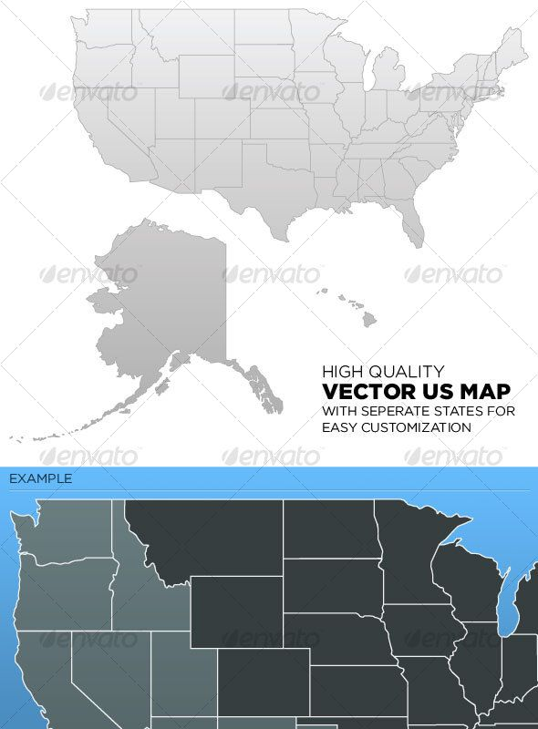 Best Maps Images On Pinterest Fonts Old Maps And Us Map - Us map vector free