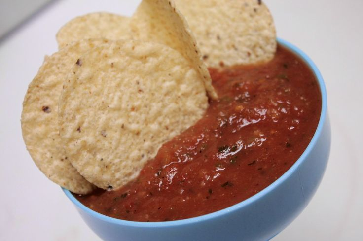 Restaurant Style Salsa. Made this today and it is soooo good.