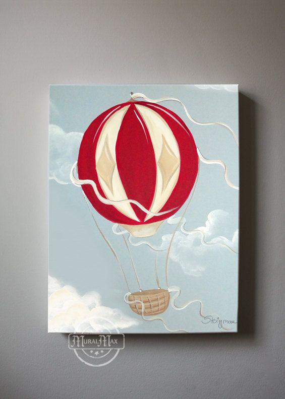 Hot Air Balloon Nursery Boys Nursery Art Boys Room by MuralMAX, $85.00