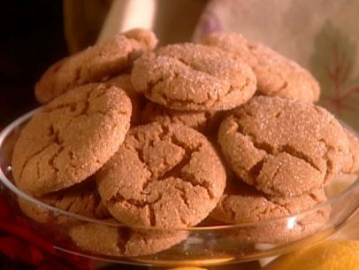 Ginger Cookies Recipe : Paula Deen : Food Network - Notes: 12 on a cookie sheet.  Do not press down much or chill the dough before baking.