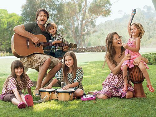 Brooke Burke and David Charvet's kids..Heaven, Shaya, Neriah and Sierra, happy family , trough the good and the bad