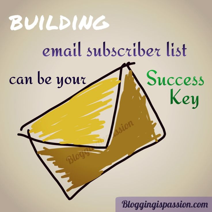 Why should you build an email subscriber list