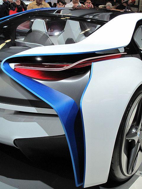 BMW Vision EfficientDynamics Concept rear headlight closeup by dailymatador, via Flickr