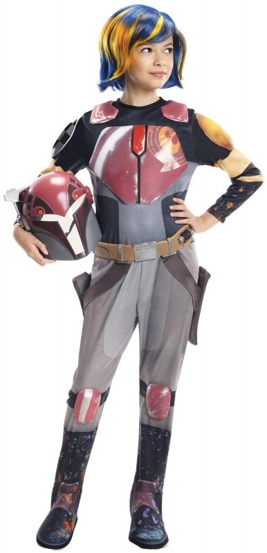 STAR WARS COSTUMES: : Star Wars Rebels Deluxe Sabine Child Costume
