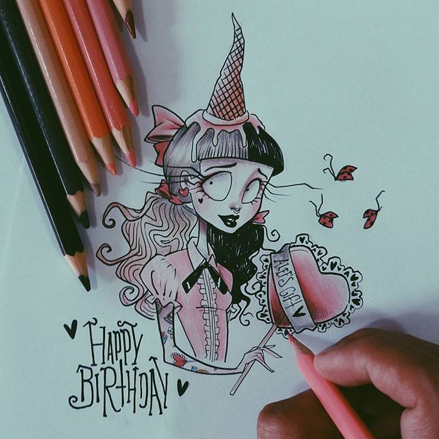 IT'S MELANIE'S BIRTHDAY! She always inspire me so much ( as you can see ) and I want to give her this little gift ♡ @littlebodybigheart  ( I hope she see it one day ) Tag a friend who love Melanie Martinez here ❤  #happybirthdaymel #crybaby #melaniemartinez