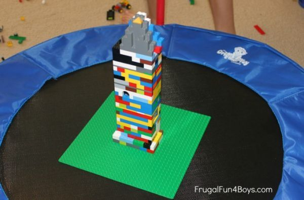 Build Lego towers that can withstand an earthquake