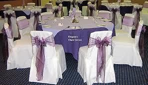 Organza chair sashes, various colours, available for hire from Treenridge weddings, Pemberton, from October 2014.