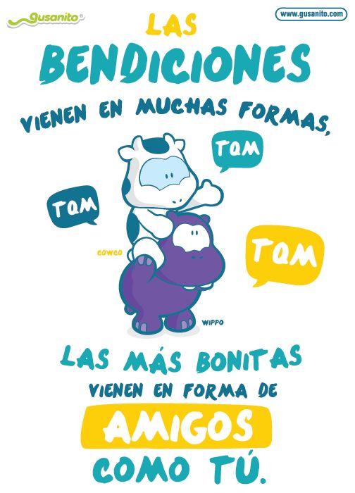 Bendiciones en forma de amigos   Postales y tarjetas de Amistad, tarjetas_fijas, cowco, wippo,   Gusanito.com