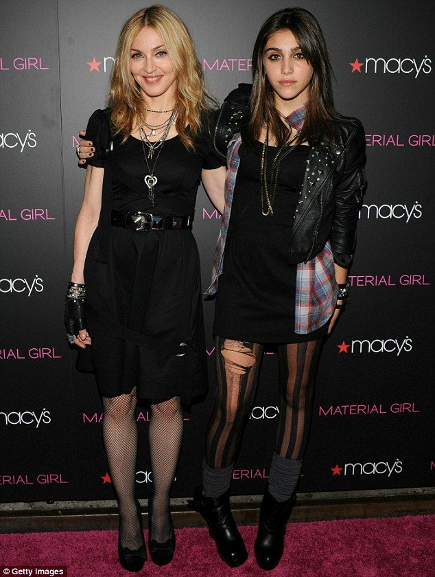 Lourdes Leon with mommy Madonna. Check out those eyebrows, she is her momma's daughter.