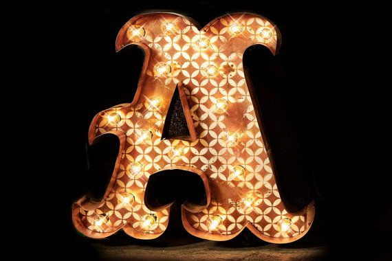 Marquee letter marquee light carnival letter by TLNFunctionalArt, $178.00