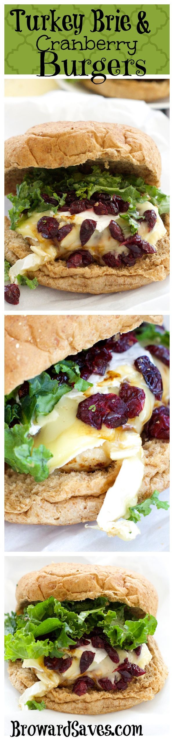 This Turkey Brie & Cranberry Burger Recipe cooks in 15 minutes or less. The perfect gourmet burger recipe! Enjoy a sophisticated meal for dinner or lunch. More burger recipes on livingsweetmoments.com