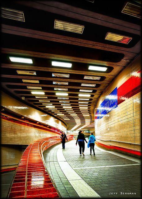 Life Underground -The Harvard Square Subway Station (photo by Jeff Bergman)