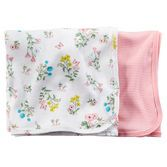 Keep your baby girl cozy for snuggle time in these soft cotton swaddle blankets. Plus, they're a perfect match for our other little layette collection pieces!<br>