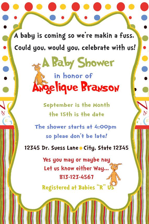Dr Suess Baby Shower Invitations ABC Nursery by AngelLMorales, $0.60