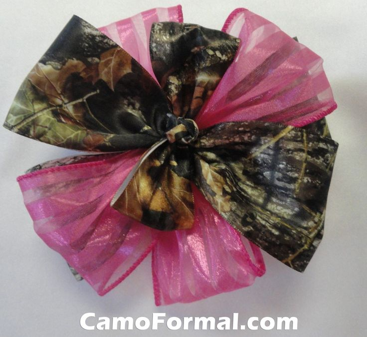 Camo hair bow barrette bow with colors camouflage prom for Camo ribbon for wedding dress
