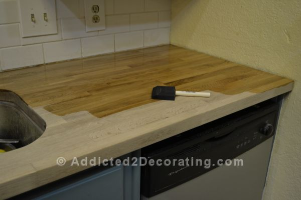 How I Stained Amp Sealed My Butcher Block Countertops Diy