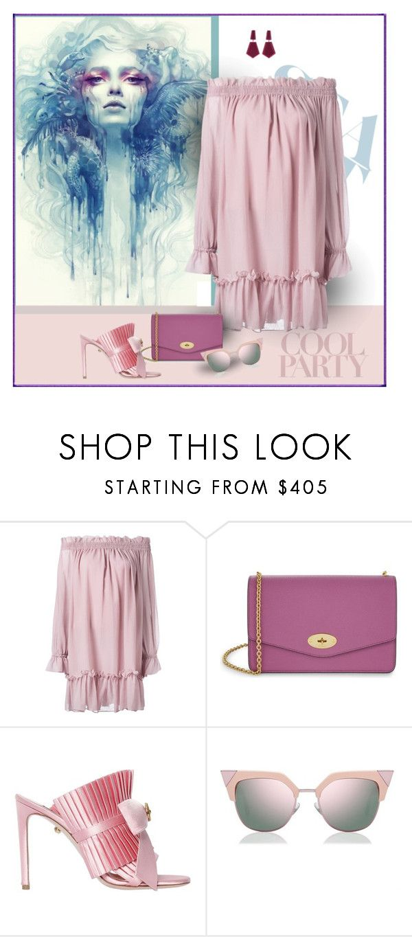 """Soft and Feminine"" by michelletheaflack ❤ liked on Polyvore featuring Alexander McQueen, Mulberry, FAUSTO PUGLISI, Fendi, Oscar de la Renta, pastels and styleinsider"