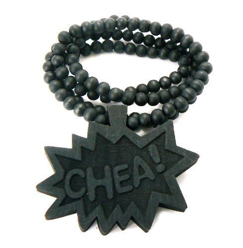 Black Wooden Chea! Pendant with a 36 Inch Wood Beaded Necklace JOTW. $9.95. Great Quality Jewelry!. 100% Satisfaction Guaranteed!