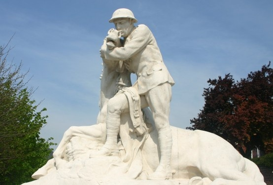 World War I, 58th (London) Division Memorial at Chipilly on the Somme.