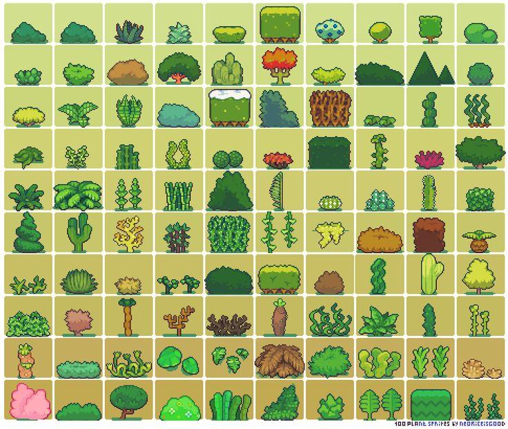100 Plant Sprites by Neorice by Neoriceisgood.deviantart.com on @deviantART