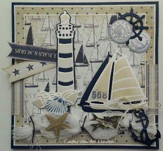Скрапбукинг открытки с маяком, прикольные