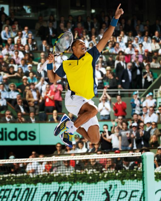 Jo-Wilfried Tsonga Roland Garros 2013 adidas outfit