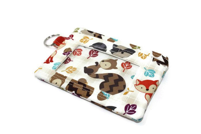 Cute Animal ID Wallet / Keychain ID Wallet / ID Holder - pinned by pin4etsy.com