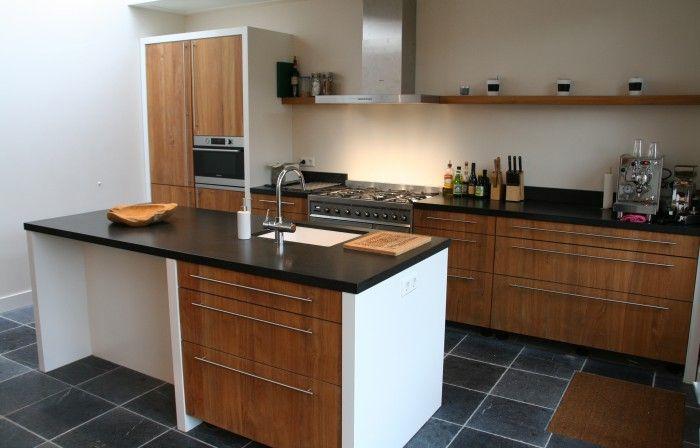 werkblad, keramiek spoelbak, Quooker, keuken hout landelijk ...