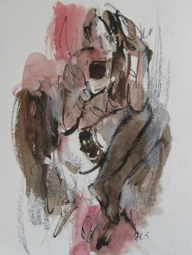 "Saatchi Art Artist Nelina Trubach-Moshnikova; Drawing, ""An answer"" #art"