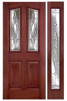 mahogany series 68 eyebrow door full sidelite w brentwood