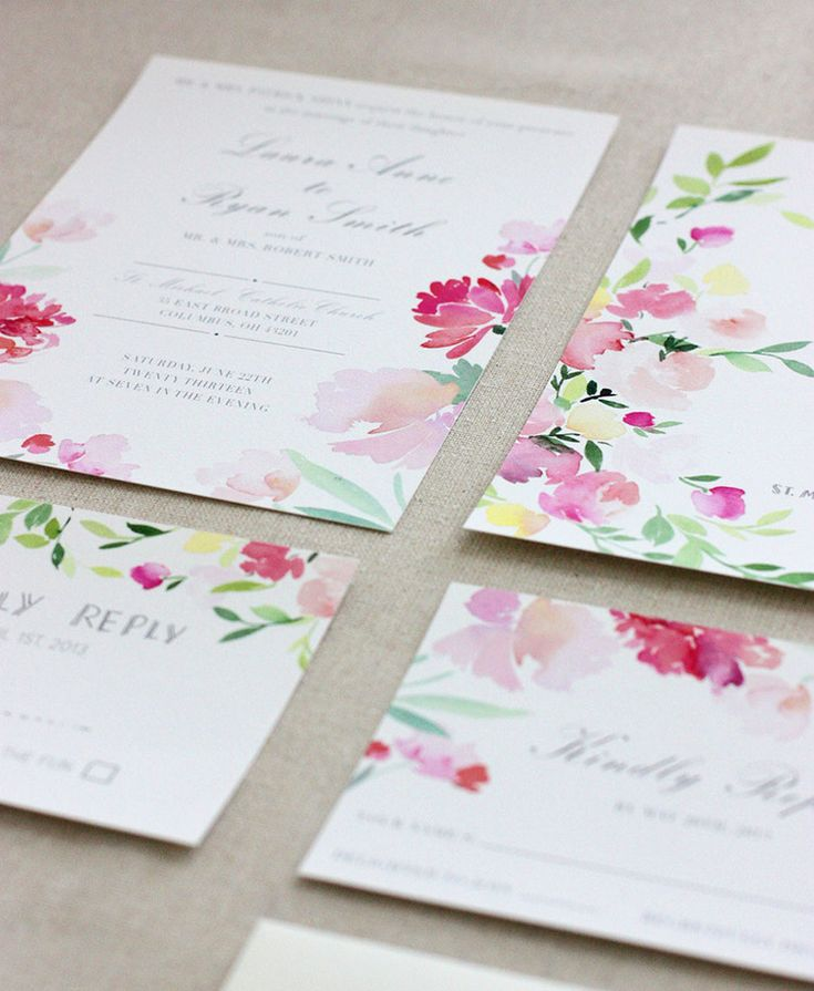 WEDDING INVITES COLLECTION PREVIEW 132 best aquarelle