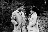 Sidney Poitier and Diahann Carroll in the film Paris Blues 1961.   Could they be anymore beautiful?   They were totally in love when they made this movie.   I am  digging the trench story happening here . Timeless style.   Diahann's updo is killing me ! Adore!     Reasons like this is way I want to live in the cinema .   PattyOnSite