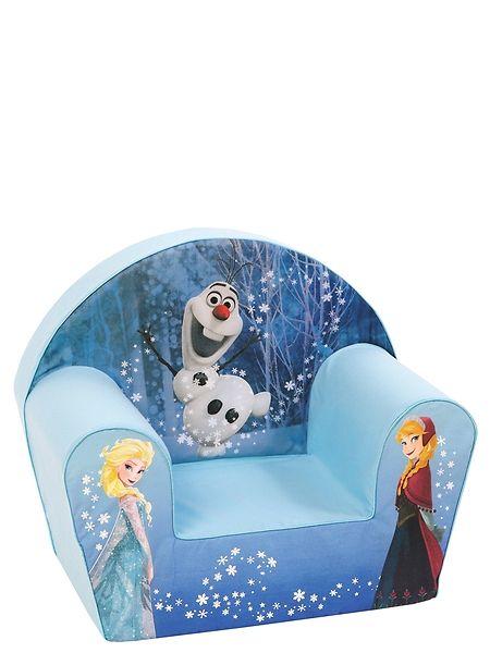 Istahda ihastuttavaan Frozen-nojatuoliin ja matkusta haaveissasi Arendelin valtakuntaan! Vaahtomuovisen, kangaspäällysteisen tuolin mitat ovat 32 x 42 x 46 cm.