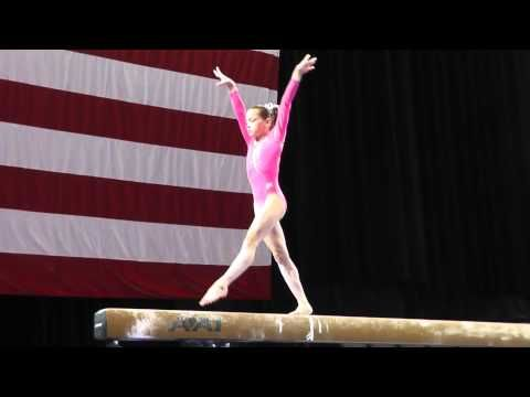 Norah Flatley - Balance Beam - 2013 P Championships - Jr. Women - Day 1 - YouTube