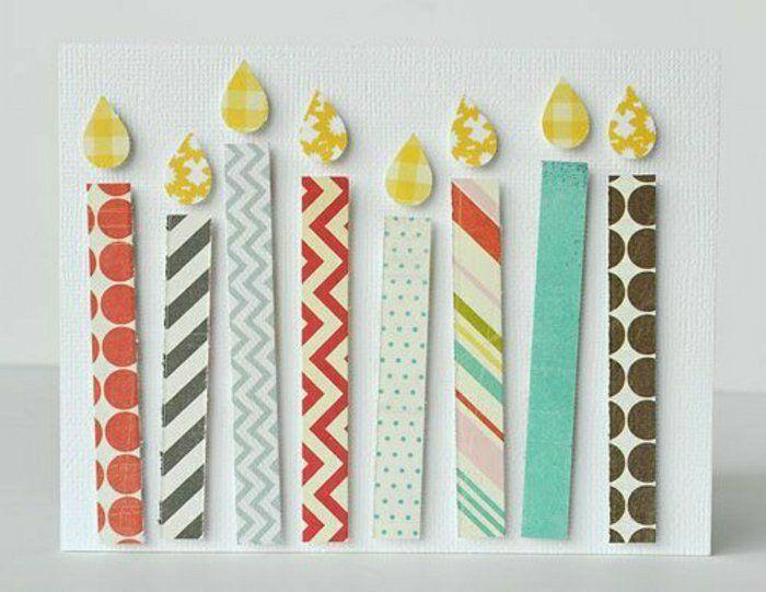 Geburtstagskarten selber machen mit kinder ideen