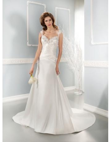 Meerjungfrau Glamouröse Moderne Brautkleider aus Satin mit Applikation