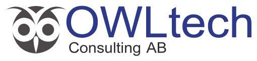 OWLtech - logotype made by Orangia AB