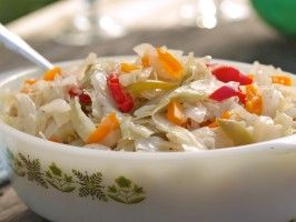 Millie Martin's Hot Cabbage from CookingChannelTV.com  (use chicken broth instead of pork to season)