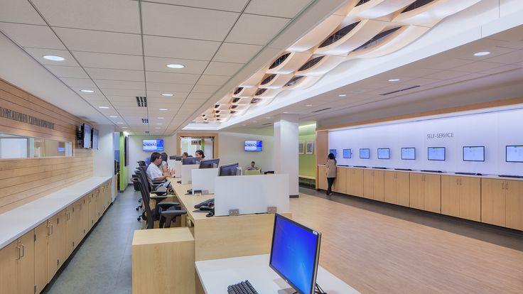 Interior design and architecture artfully merge at the Oakton Community College Enrollment Center