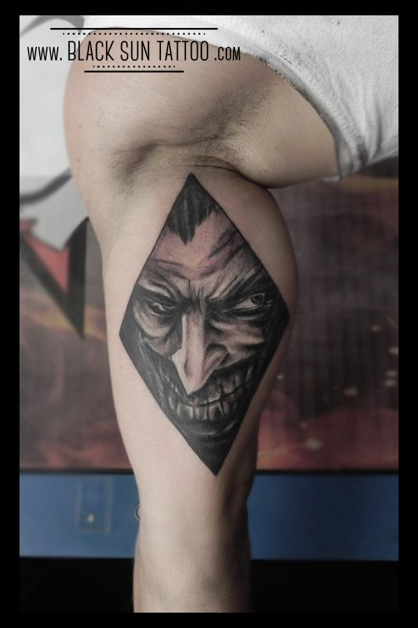 Tattoo by Black Sun Tattoo , Warsaw , Poland #jokertattoo #comicstattoo #marveltattoo #marvel #batman #batmantattoo #joker