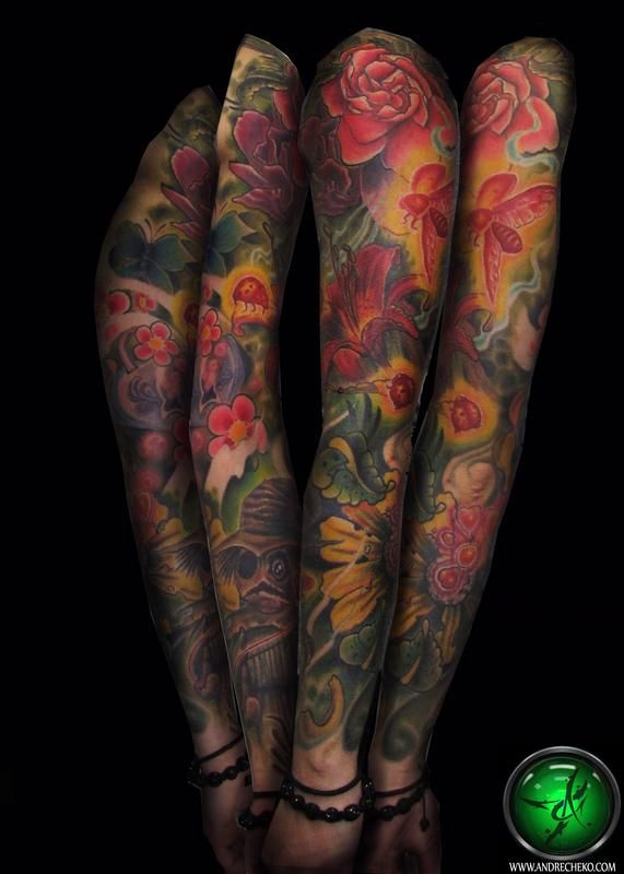 best 25 colorful sleeve tattoos ideas on pinterest colorful flower tattoo color tattoo and. Black Bedroom Furniture Sets. Home Design Ideas