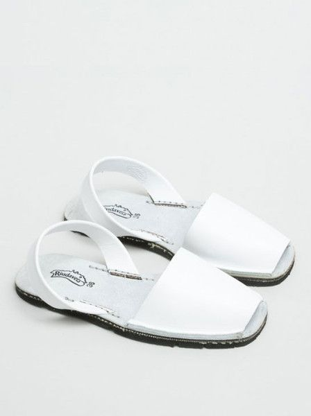 Mary & Me - RIUDAVETS - Avarca Sandals - White - Greased Leather - Recycled Car Tire Sole $100.00